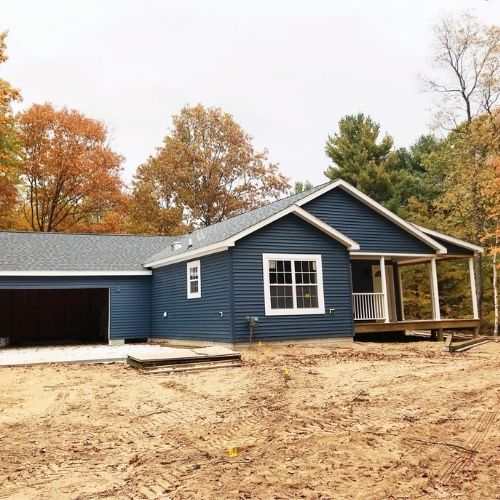 Custom 2 Car Garage and Home with Deck and Porch Builder