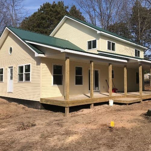 Custom 2 Car Home and Garage with Custom Deck and Porch Builder